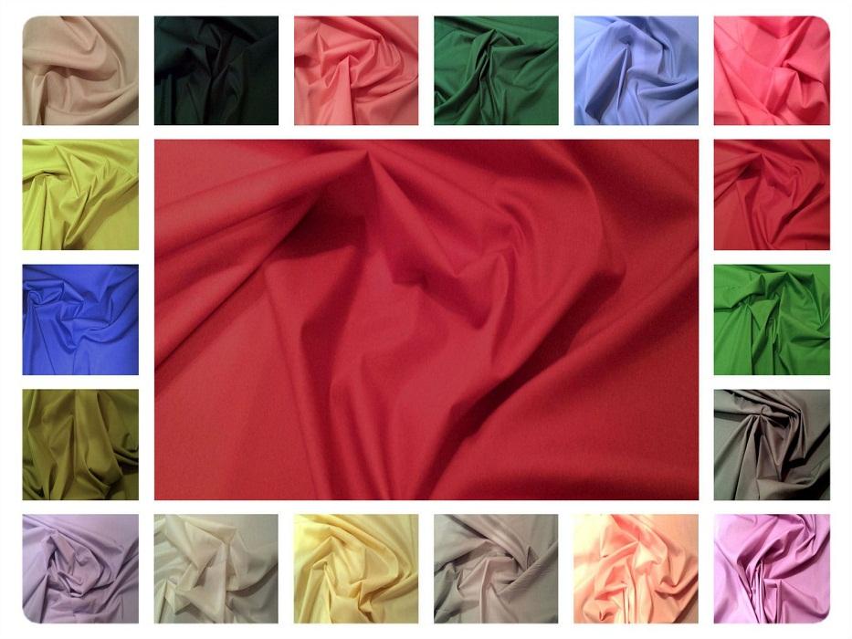 Cotton Poplin plain Fabrics - Solid Colors