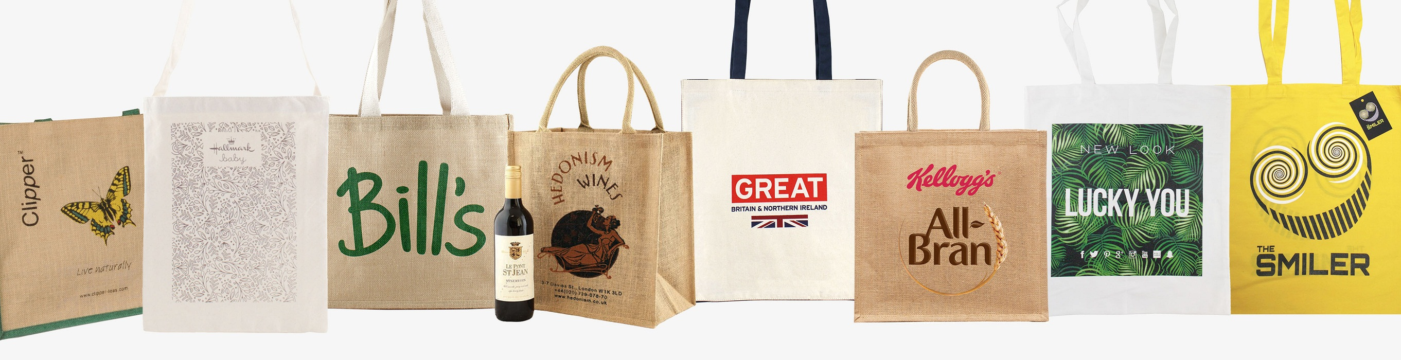 Organic Cotton Shopping Bags with Company Logo Printed