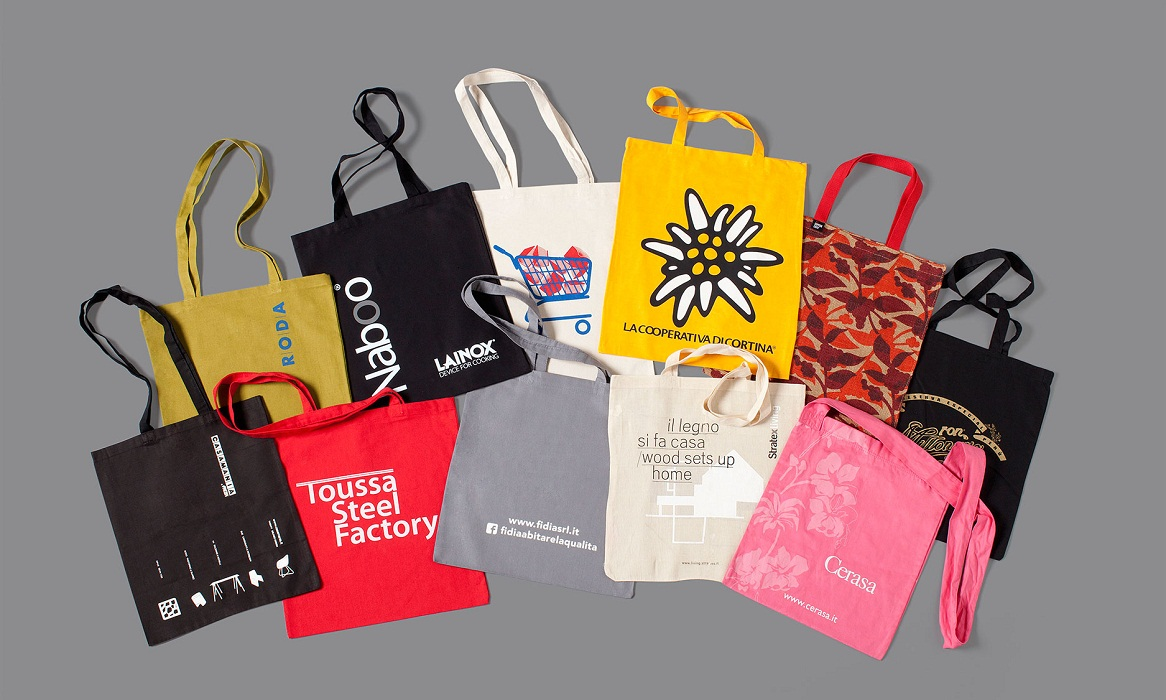 Organic Cotton Shopping Bags with Company Logo