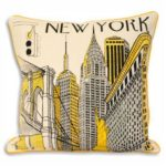 Two Color Fashionable Print Cushion Covers