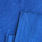 Blue Color Twill weave cotton Fabric