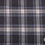 Charcoal Color plaid Design Flannel Cloths
