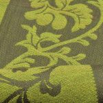 Green Coloured Jacquard Design