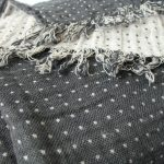 Grey Dotted Dobby Weave Picknic Blanket