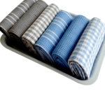 Dobby Weave Yarn Dyed Tea Towels & Napkins