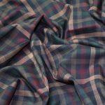 Plaid Check Fabrics made in Viscose Yarn