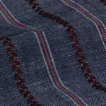 Striped Organic Linen Fabric