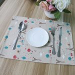 Table Mat Printed fabric Made