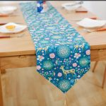 Table Runner Printed Design on Blue Way