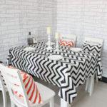 Wave-geometric-print Table Cloths