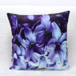 Purple Prints Narcissu-Custom-Cushion-covers-3D-Flower-Decorative Pillows