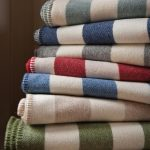 Broad Striped Cotton Blankets
