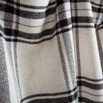 Checked Black & White Cotton Blankets