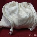Fair Trade Waffle Cotton Pouch