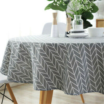 Fashion Tablecloth Gray English Letter Printed Table Cover for Home Decoration